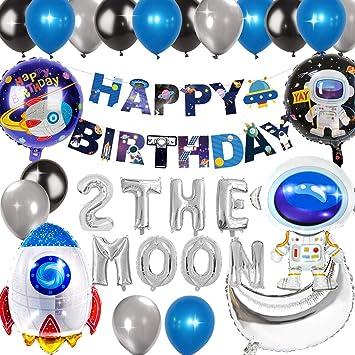 Kreatwow 2 La Luna Decoraciones de cumpleaños Planeta ...