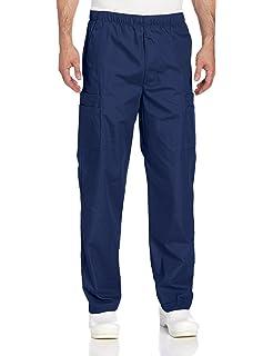 af46edab9021e Landau Men's Comfort 7-Pocket Elastic Waist Drawstring Cargo Scrub Pant