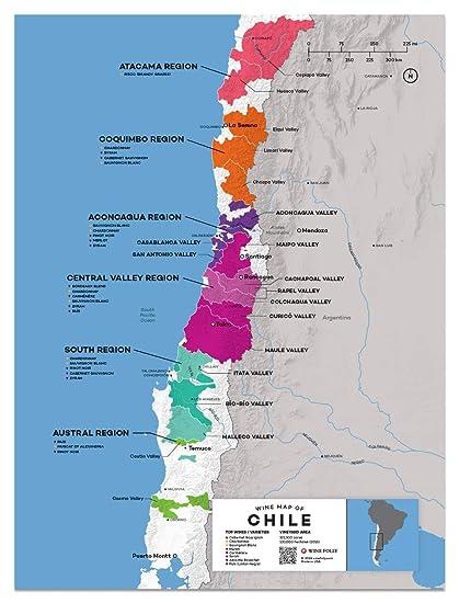 Amazon Com Wine Folly Chile Wine Map Poster Print 12 X 16