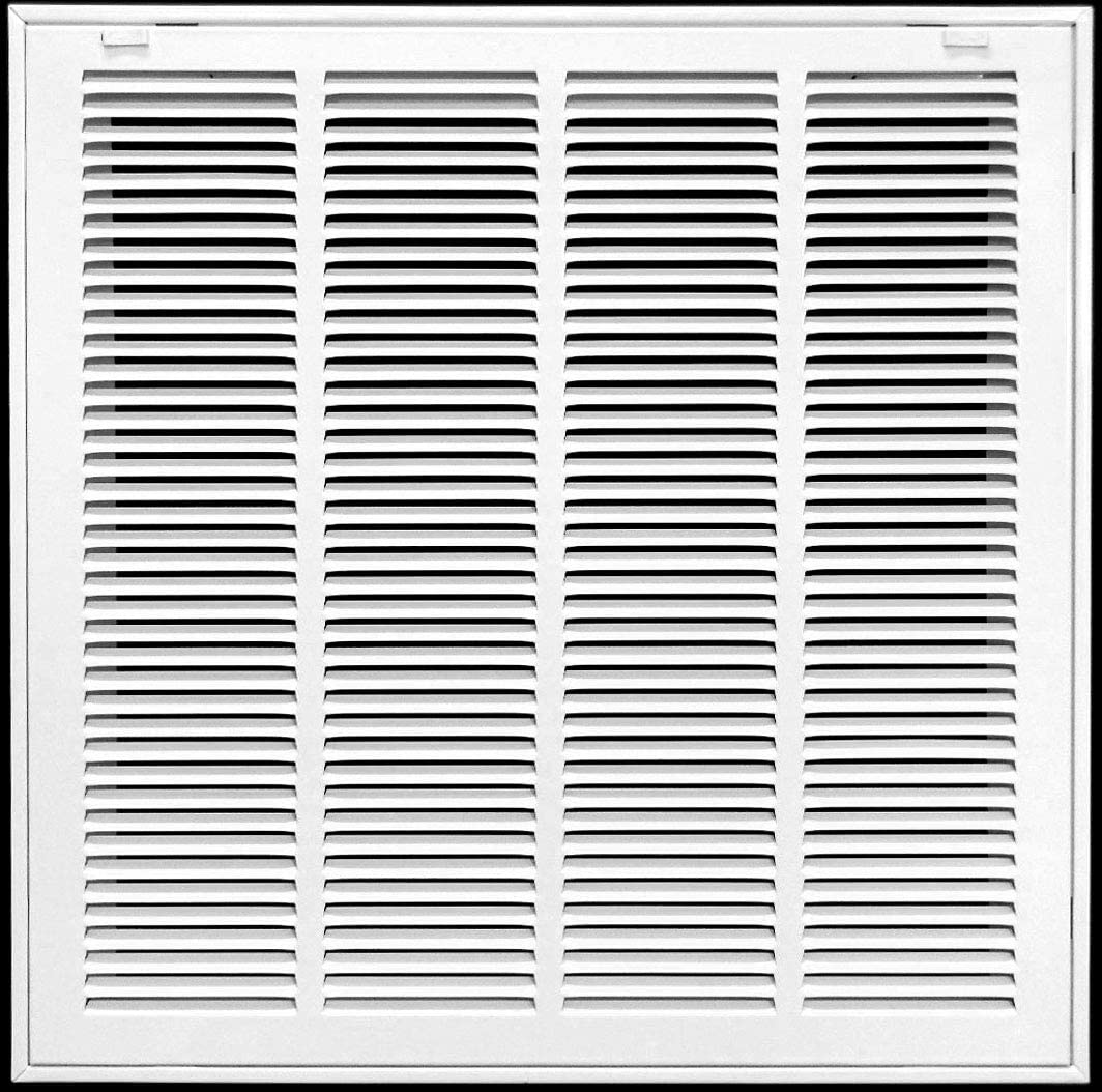 "24"" X 20"" Return Air Filter Grille Filter Included - Removable Face/Door - HVAC Vent Duct Cover - White [Outer Dimensions: 25.75w X 21.75h]"