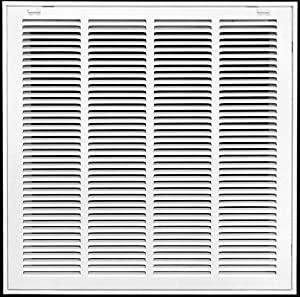 "20"" X 14"" Return Air Filter Grille Filter Included - Removable Face/Door - HVAC Vent Duct Cover - White [Outer Dimensions: 21.75w X 15.75h]"