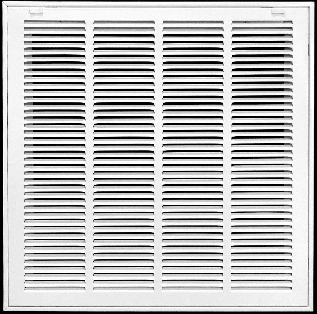 """24"""" X 30"""" Return Air Filter Grille Filter Included - Removable Face/Door - HVAC Vent Duct Cover - White [Outer Dimensions: 25.75w X 31.75h]"""