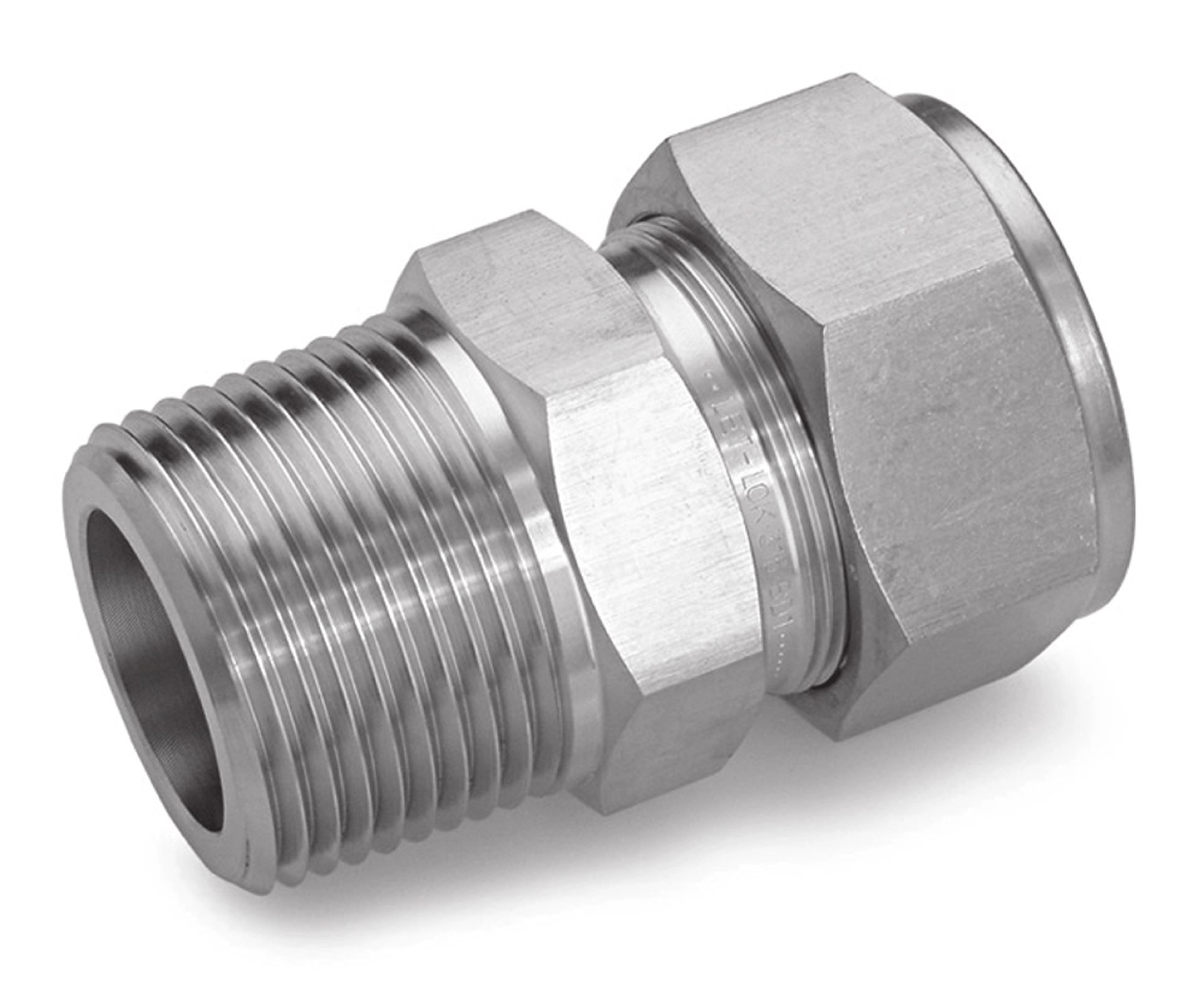 Ham-Let 3002012 Stainless Steel 316 Let-Lok Compression Fitting, Adapter, 1/2'' NPT Male x Tube OD