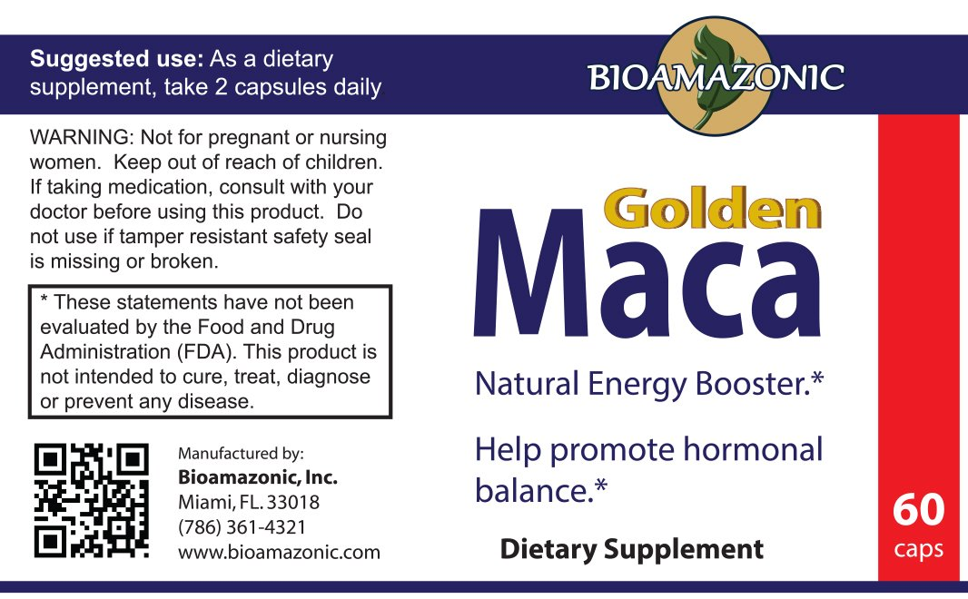 Amazon.com: Golden Maca - Utilizada para Energía y Fertilidad - Somos Natura - 60 Capsulas: Everything Else
