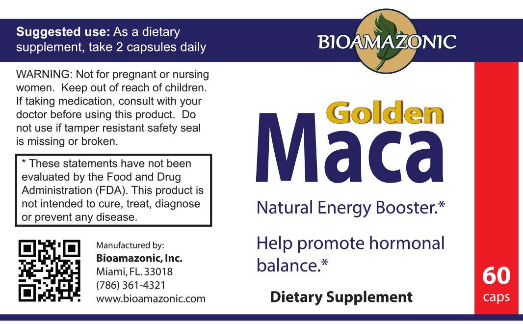 Amazon.com: Golden Maca - Utilizada para Energía y Fertilidad - Somos Natura - 60 Capsulas: Everything Else