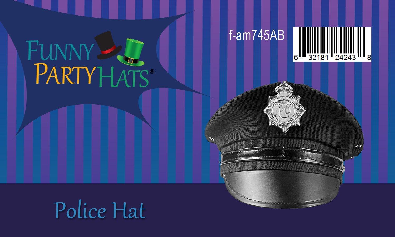 1PCS TianS Party Accessory Unisex Adults Police Hat