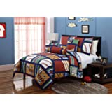 Amazon.com: Classic Sports Quilt Set (Twin): Home & Kitchen : twin sports quilt - Adamdwight.com