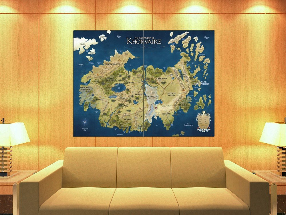 Amazon.com: D&D Map Khorvaire Fantasy Dungeons & Dragons 47x35 Huge ...
