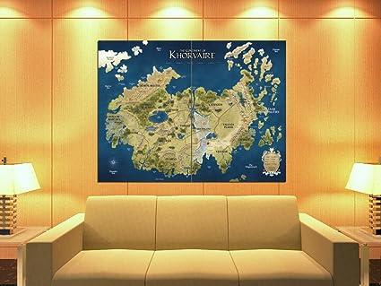 Du0026D Map Khorvaire Fantasy Dungeons U0026 Dragons 47x35 Huge Giant Print Poster