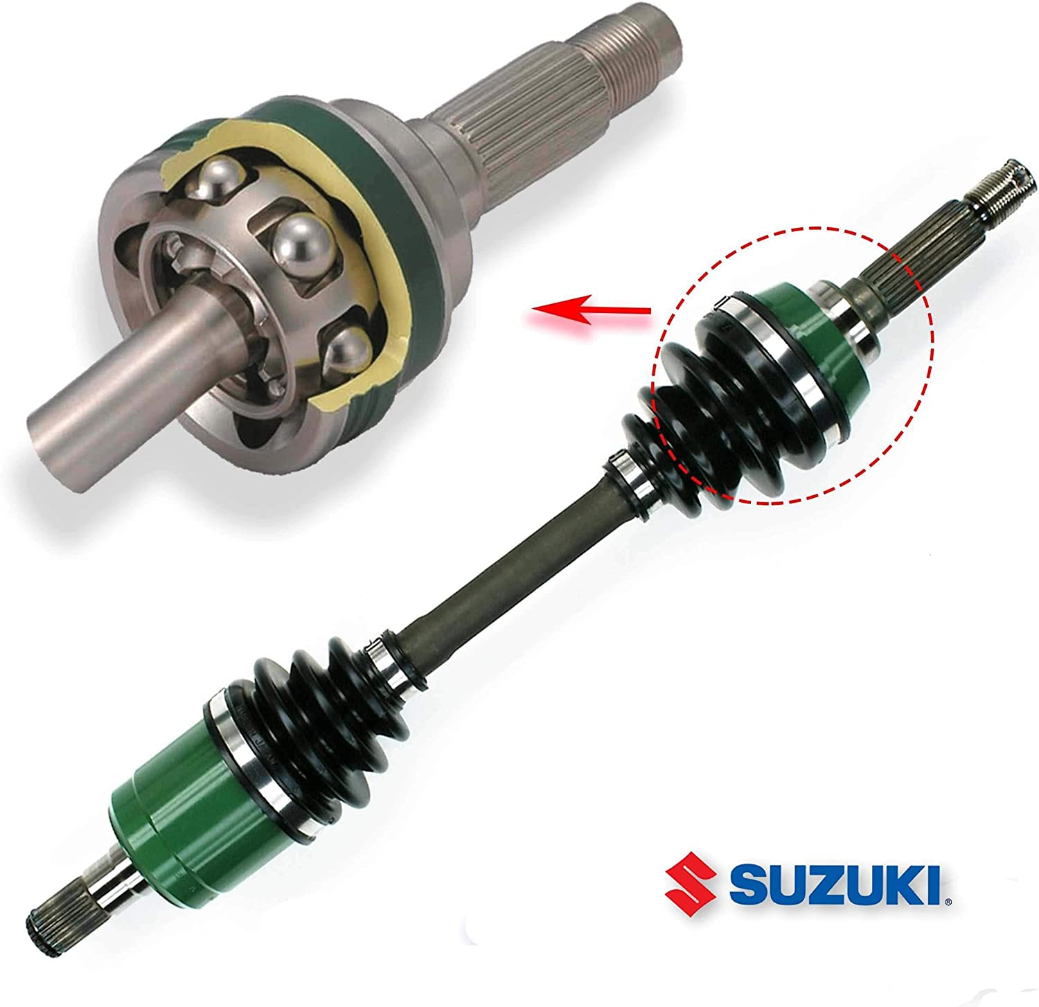 Front Outer CV Axle Boot Kit fits Compatible with Suzuki 1991-1998 King Quad 300 LTF4WDX 4x4