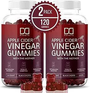 Amazon.com: (2 Pack) Organic Apple Cider Vinegar Gummies