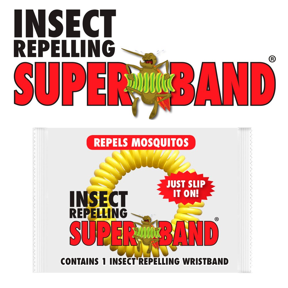 SUPERBAND 400 Pack All Natural Mosquito Repellent Bracelets - Guaranteed to Work - No Messy Lotions, Sprays, or Plastic - Fast & Easy! 30 Day Money Back Guarantee by Superband