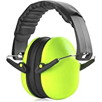 MEDca Hearing Protection Ear Muffs - Lime Green Hearing Protection and Noise Cancelling Reduction Safety Ear Muffs, Fits Children and Adults, Perfect for Shooting, Hunting, Woodworking and More
