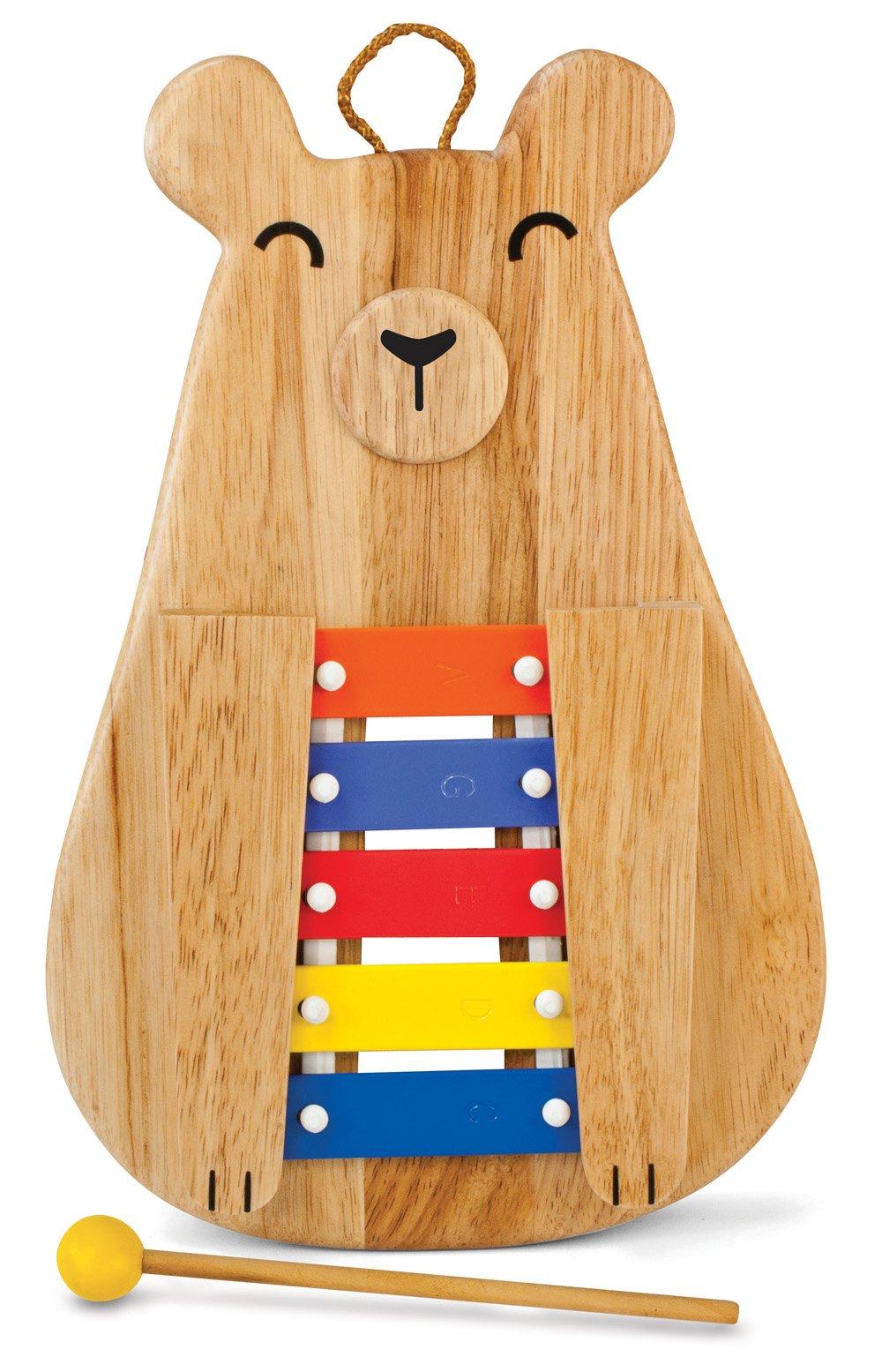 Green Tones Poppa Bear Glockenspiel with Mallet