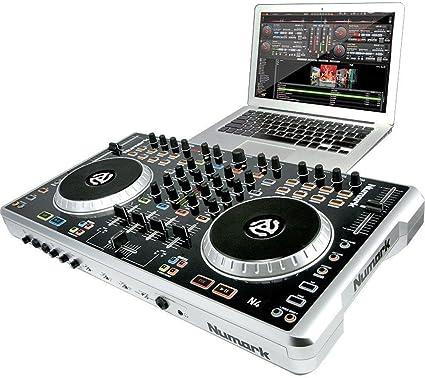 Amazon.com: Numark N4 4-deck driver digital DJ y mezclador ...