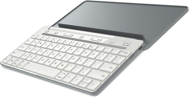 Microsoft P2Z-00036 Bluetooth QWERTZ Alemán Gris teclado para móvil - Teclados para móviles (Gris, Mini, Universal, QWERTZ, Alemán, Android 4.0, ...