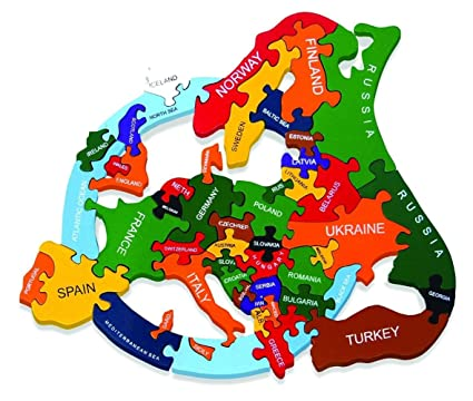 Ireland On Map Of Europe.Wooden Map Of Europe Jigsaw Puzzle Handmade In Ireland