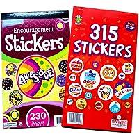 545pcs Teacher Encourage Stickers Cute Star Smiley Letter Incentive Stickers Activity Books Set, Teacher Praise Students…