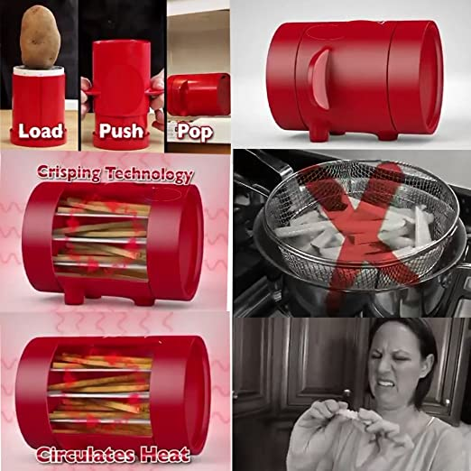 TV Potatoes Maker Jiffy Potato slicers French Fries Maker French Fries Cutter //o