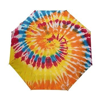 MyDaily - Paraguas de Viaje con Tinte de Corbata y Cierre ...