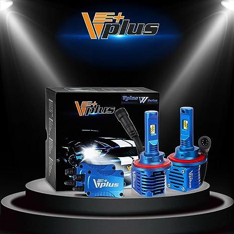 2 pcs Vplus serie W H4 (9003 alta/baja) 80 W LED bombillas
