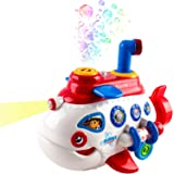 Bubble Boat Battery Operated Toy Submarine w/ Lights & Music (White Color)