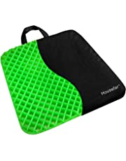 Gel Seat Cushion,Coccyx Cushion,Sciatica Cushion-Ergonomic Breathable Tailbone and Sciatica Relief Back, Honeycomb Designed Coccyx Pain Relief Seat Cushion for Office, Home, Car, Wheelchair