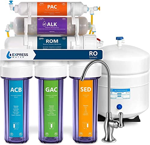 Express Water Reverse Osmosis Alkaline Water Filtration System 10 Stage RO Water Filter