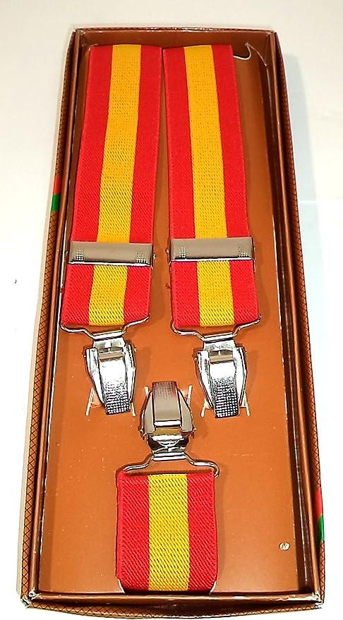HM Tirantes Bandera de España. Ajustables. Anchura: 35 mm.: Amazon.es: Ropa y accesorios