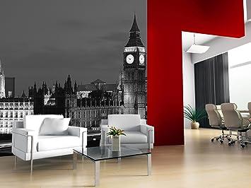 London Wallpaper Mural Amazon Co Uk Kitchen Home