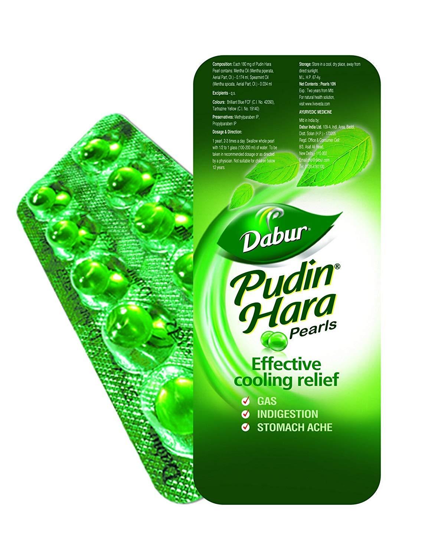 Dabur Pudin Hara Pearls (10 Strips)