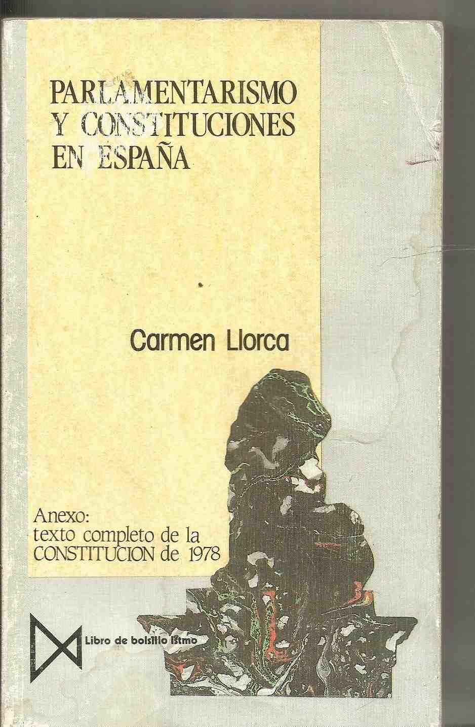 Parlamentarismo y constituciones en España: Amazon.es: Llorca ...