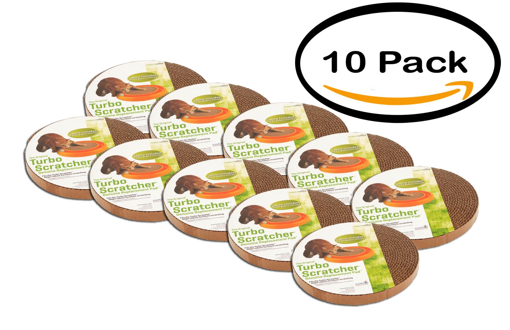 PACK OF 10 - Morovilla Turbo Replacement Pads