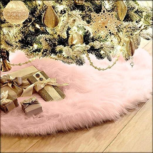 75cm Christmas Plush Long Haired Christmas Tree Skirt Christmas Tree Skirt Decor