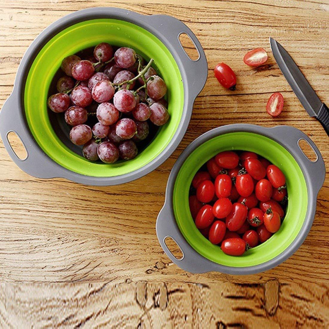 drf8090w-eop Cr/épine Pliable de Panier de Lavage de l/égume de Fruit de Cuisine de passoire de Silicone