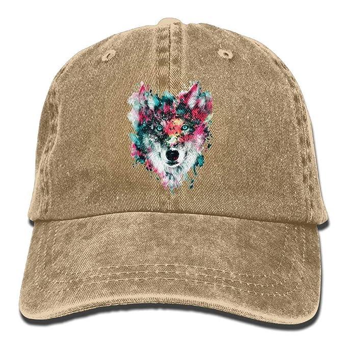 afw Gorra de béisbol para Hombre y Mujer, diseño de Lobo, Color ...