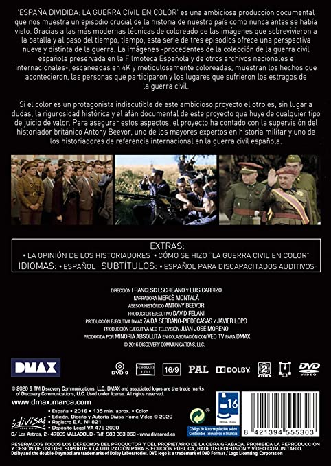 España Dividida La Guerra Civil En Color La Mirada De Los Historiadores Dvd Amazon Es Documental Francesc Escribano Lluís Documental Cine Y Series Tv