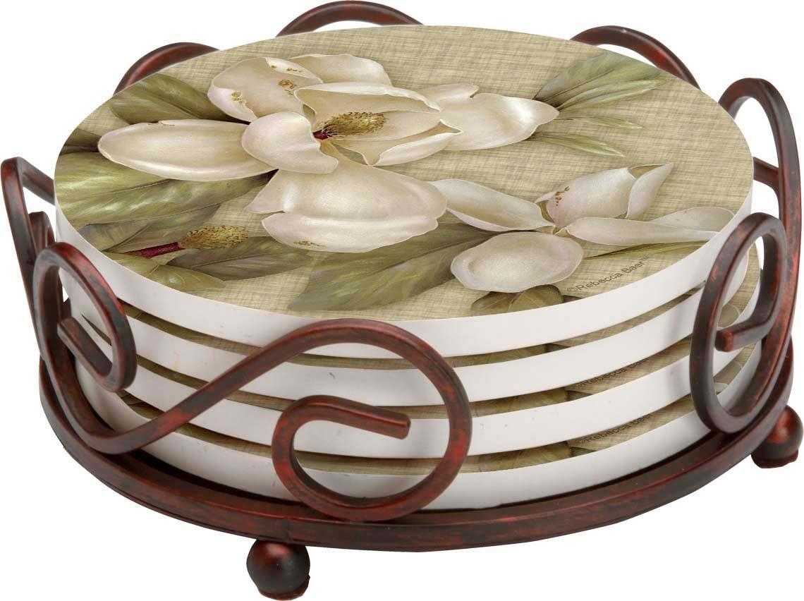 Thirstystone Stoneware Coaster Set, Gift Set, Magnolia - HA60
