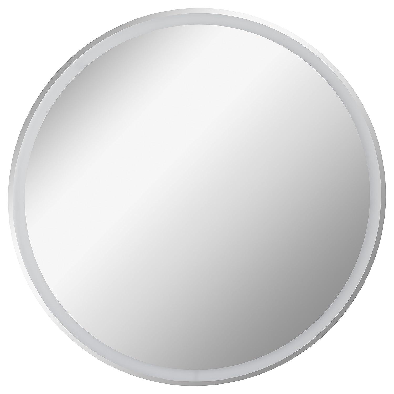 FACKELMANN LED Spiegel rund Ø 80 cm Mirrors Wandspiegel mit umlaufender LED-Beleuchtung Maße (B x H x T)  ca. 80 x 80 x 3 cm hochwertiger Badspiegel moderner Badezimmerspiegel Durchmesser 80 cm