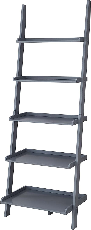 Convenience Concepts American Heritage Bookshelf Ladder, Gray