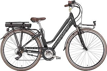 Montana E-Bluecity Deluxe - Bicicleta eléctrica para mujer (28