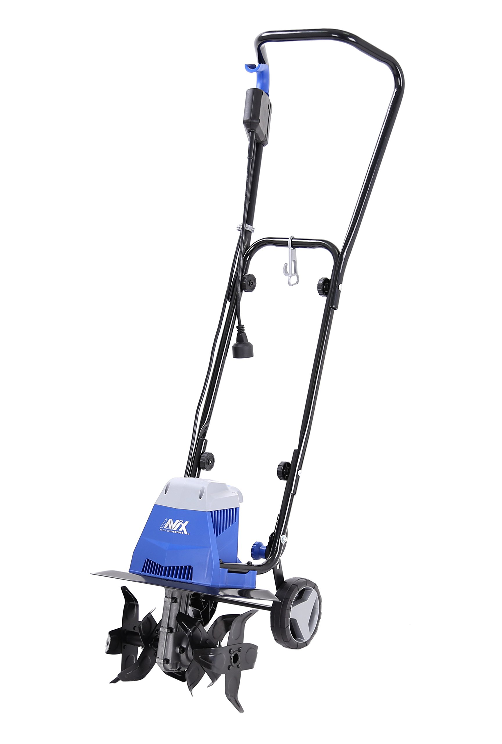 AAVIX AGT307 10 Amp Electric Tiller/Cultivator, 13'', Black/Blue