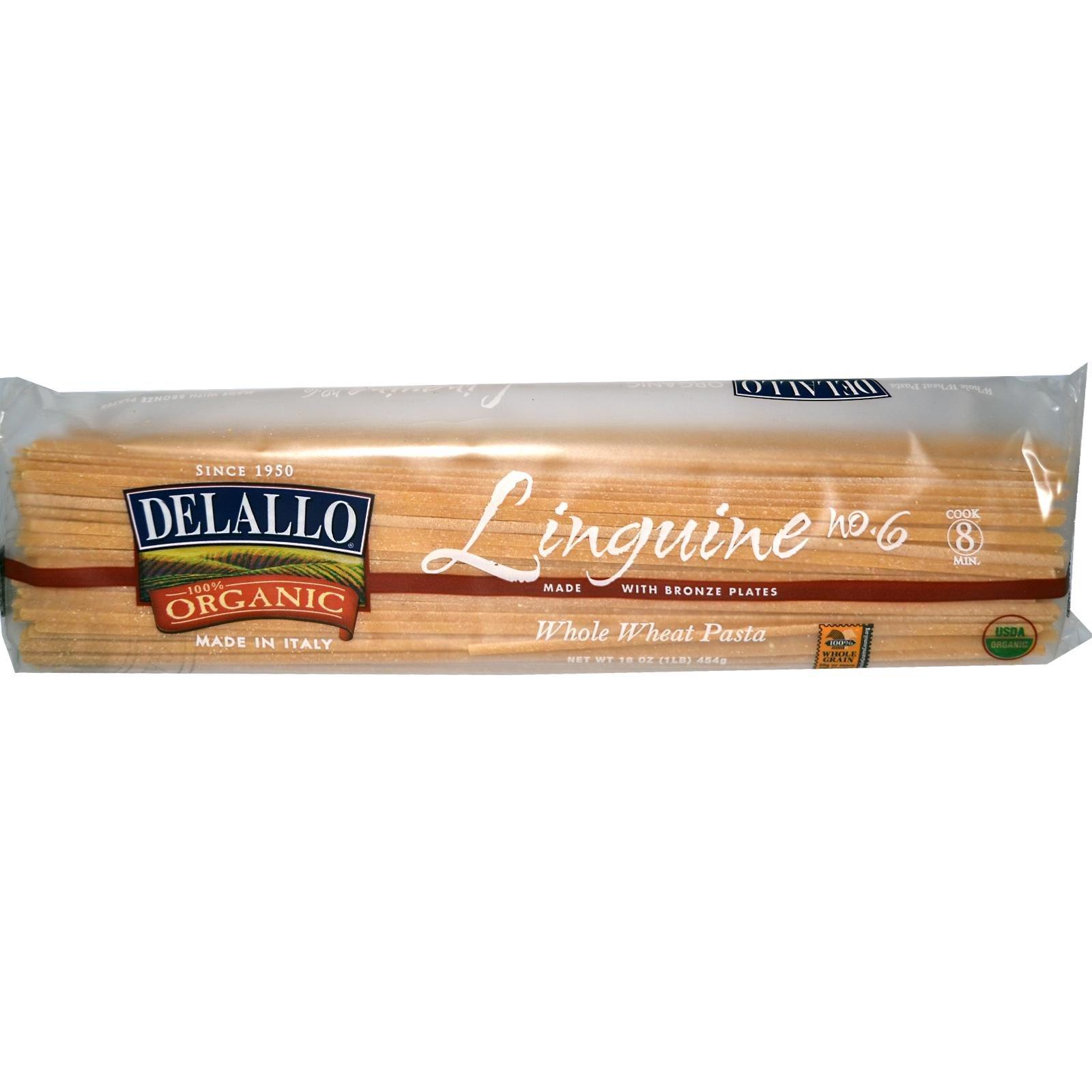 Delallo Organic Linguine Pasta #6 -- 1 lb