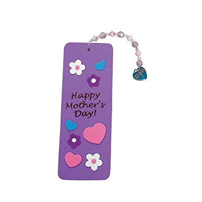 Mother\'s Day Beaded Charm Bookmark Craft - Crafts for Kids and Fun Home Activities: Toys & Games [5Bkhe1405384]