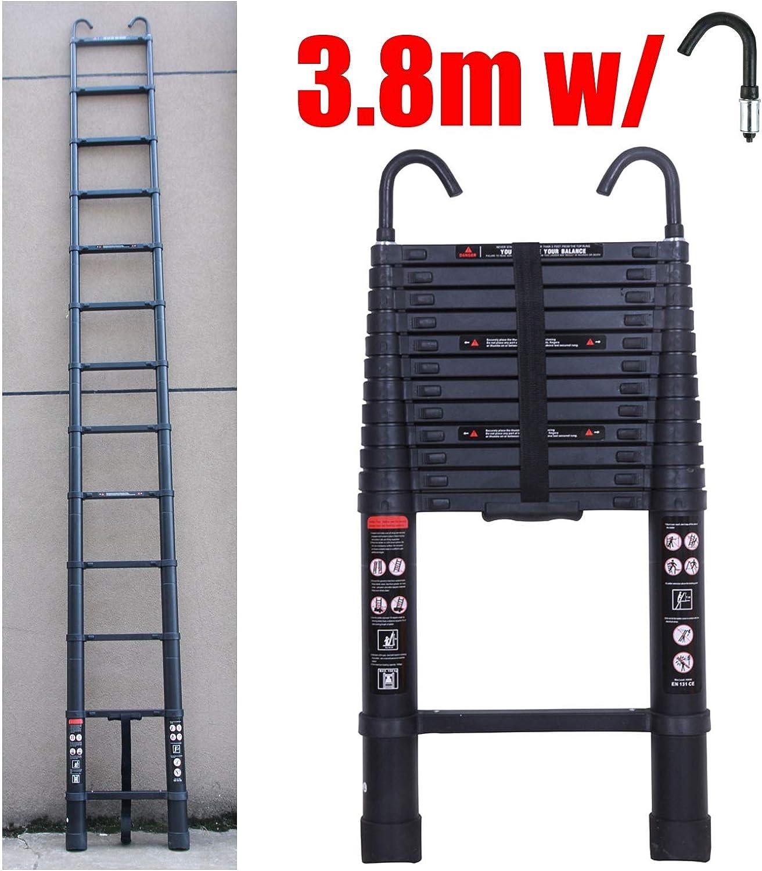 Escalera telescópica de aluminio extensible portátil multiuso con bloqueo de seguridad de 150 kg para exterior interior constructor de bricolaje multifuncional: Amazon.es: Bricolaje y herramientas