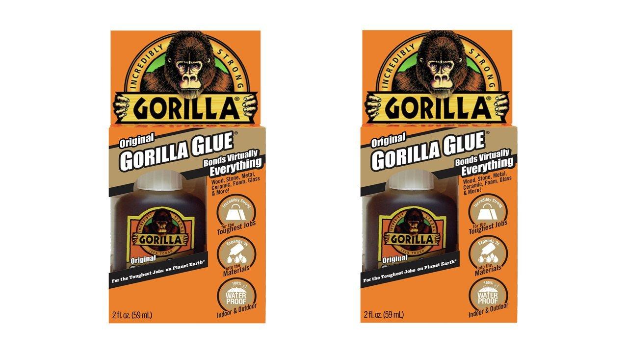 Gorilla 50002-2 Original Glue (2 Pack), 2 oz, Brown