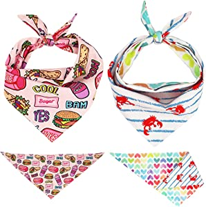 Free Sunday New Pattern Pet Dog Bandana(Fast Food L)
