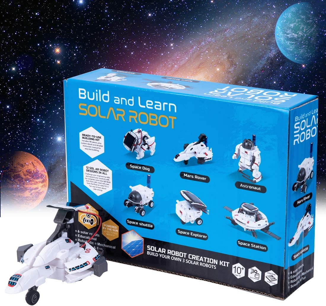 Year Old Boys and Girls GARUNK 6 in 1 STEM Solar Robot Kit Lunar Exploration Fleet Educational Learning Science Building Toys for Kids Teens and Science Lovers Age 10 11 12