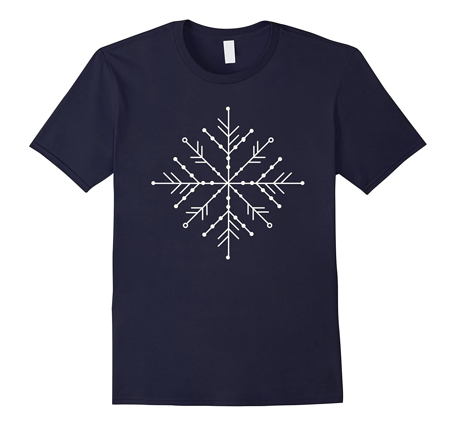 Large Snowflake White T Shirt-CL