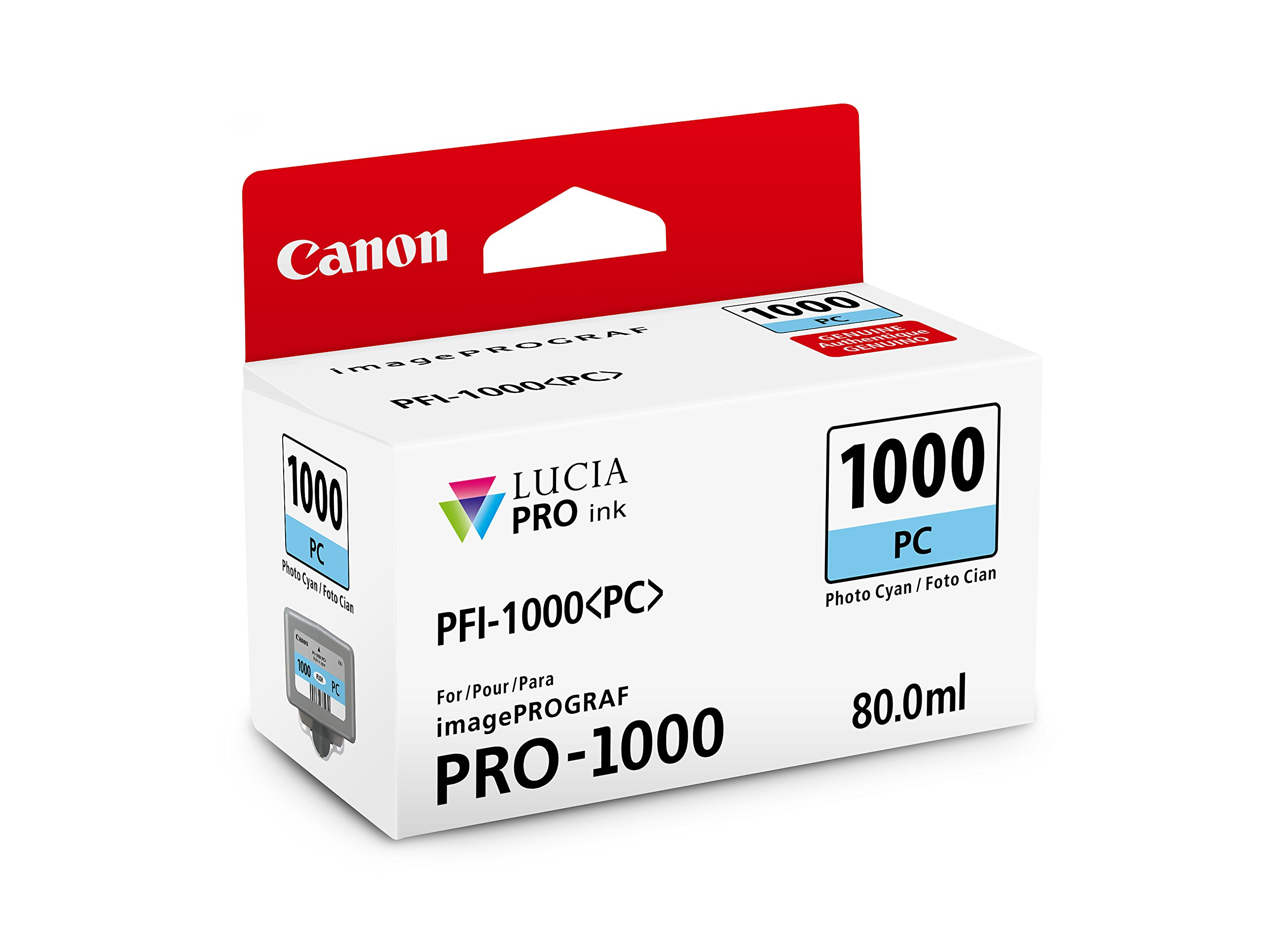 CanonInk LUCIA PRO PFI-1000 Photo Cyan Individual Ink Tank